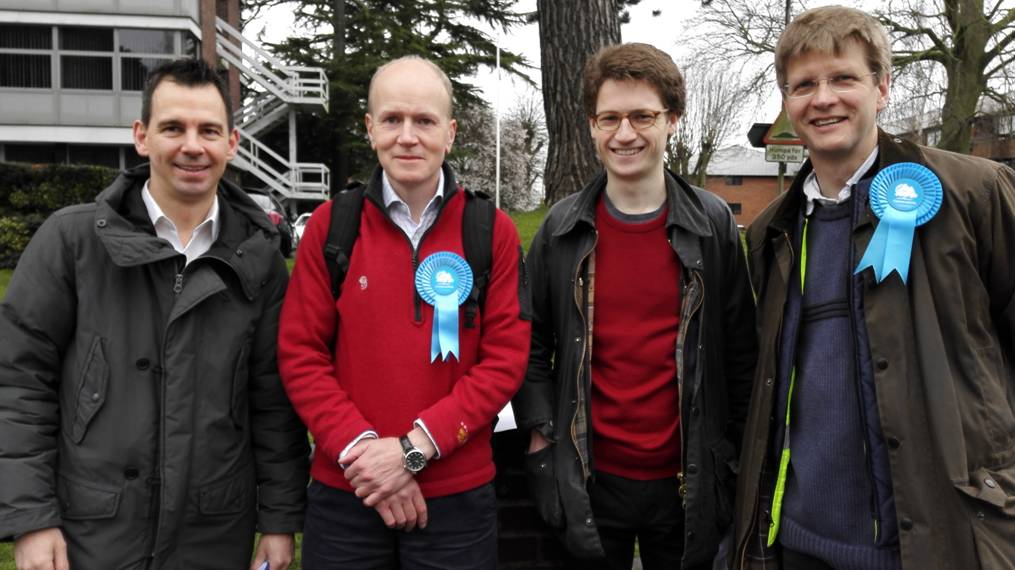 Canvassing in city centre St Albans